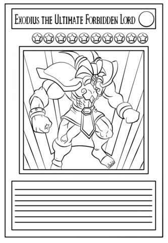 Coloriage Carte Yu Gi Oh Coloriages 224 Imprimer Gratuits Card Coloring
