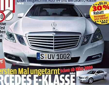 Autobild Cover by W212 E Class Revealed On Autobild Cover