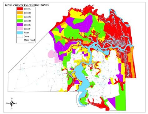 unf colors your zone jacksonville s evacuation zones and where