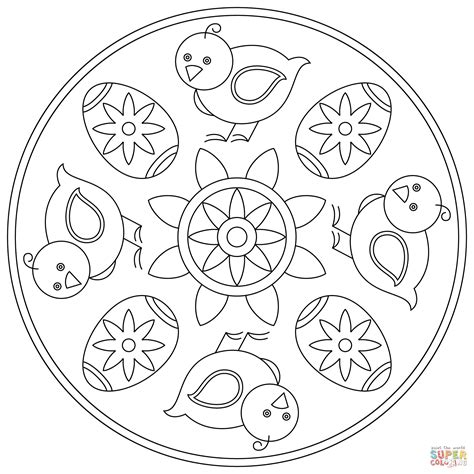 mandala coloring pages easter easter mandala with and egg coloring