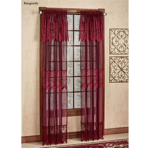 Sheer Curtains With Attached Valance Easy Style Valerie Sheer Panels With Attached Valances
