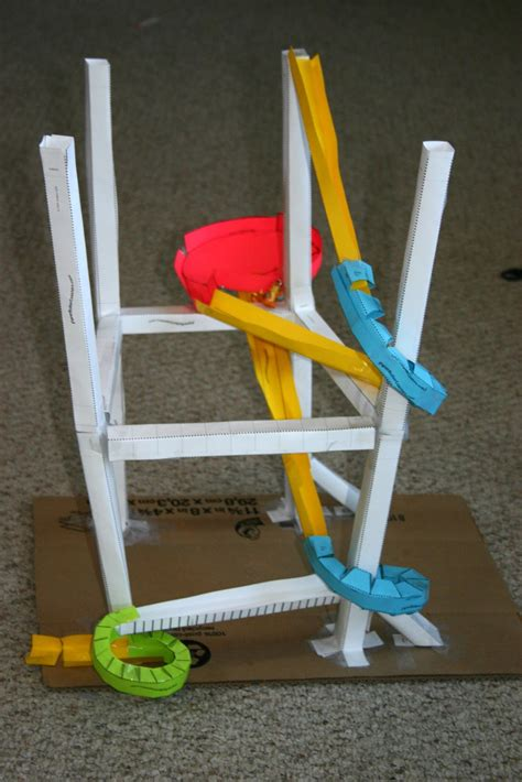 How To Make A Paper Marble Roller Coaster - tales of a trophy paper roller coaster giveaway