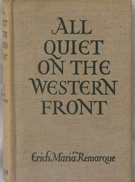 All On The Western Front Book Report by Antiquarian Books All On The Western Front Was Listed For R250 00 On 5 Apr At 11 35 By
