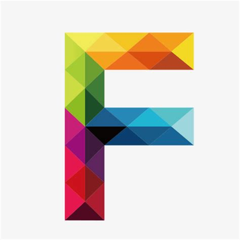 colorful letters colorful letters f letter colorful f png image and
