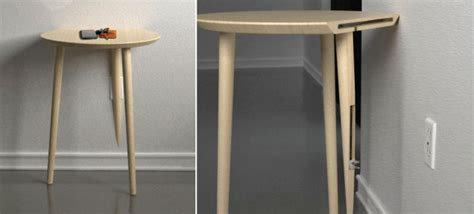 side tables with plugs a side table for charging gadgets that plugs right into