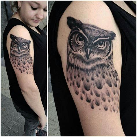 owl feather tattoo owl owls owl and feather