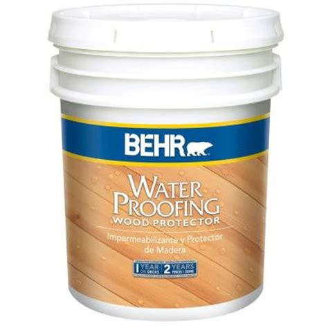behr  gal natural waterproofing wood protector