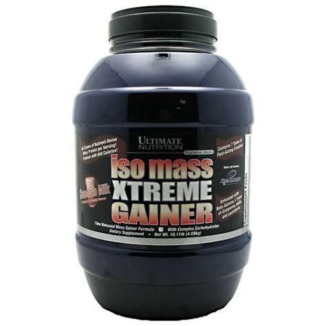 Ultimate Nutrition Iso Mass 10 Lbs 4 5 Kg Promo Bagus ultimate nutrition s 233 rie platine iso mass xtreme gainer