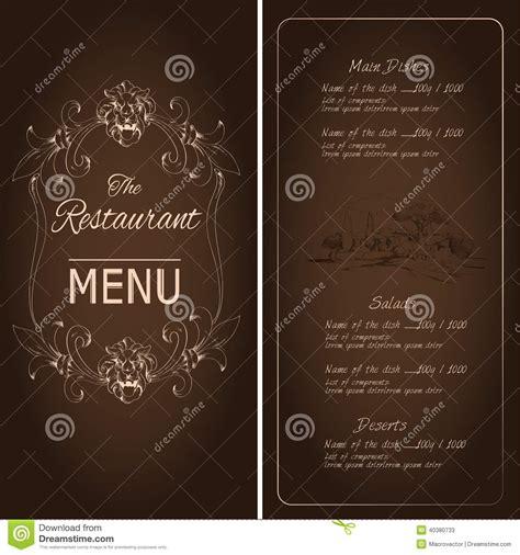 restaurant menu template stock vector image 40380733