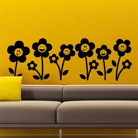 Smiley Deco Sticker by Stickers Muraux Fleurs Sticker Smileys Vall 233 E Ambiance