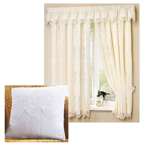 cream lace curtains juniper 3 quot tape top fully lined lace curtains cream or