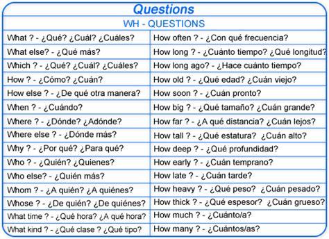 ejemplos de preguntas con wh words ingles ingles