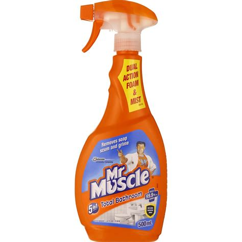 mr muscle 5 in 1 bathroom cleaner mr muscle bathroom cleaner 5 in 1 total 500ml woolworths