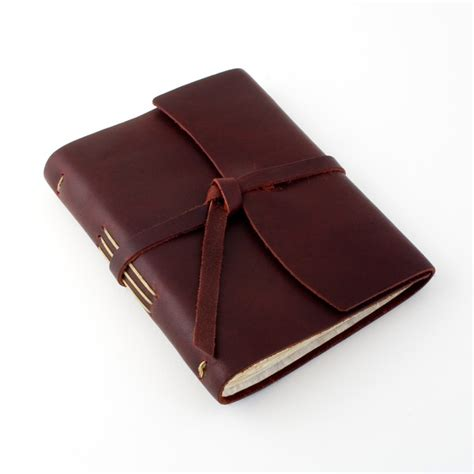Handmade Leather Bound Journal - handmade leather bound journal rustico leather