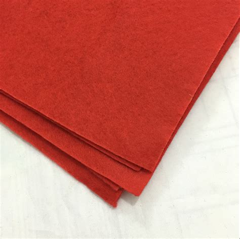 thick sheets red non woven felt fabric sheets fiber thick kids diy