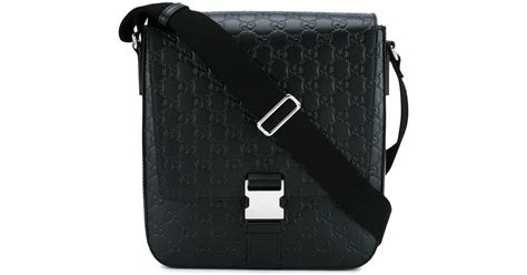 Signature Wilbury Messenger Bag by Lyst Gucci Signature Messenger Bag In Black For