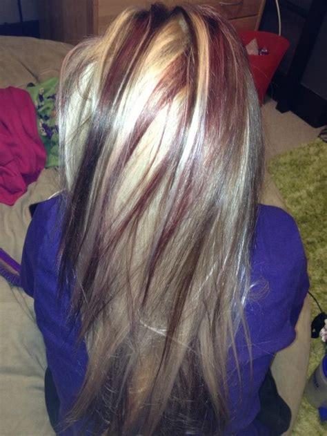 platinum blonde and lowlights platinum hair with lowlights dark blonde hair with red