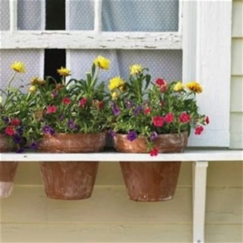 window box shelf shelf with holes as window box garden
