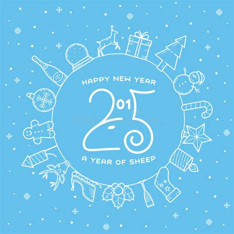 design free new year card happy new year 2015 creative greeting card design stock