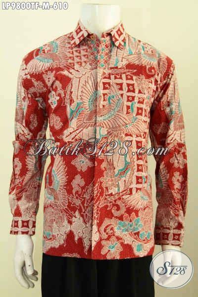 Lengan Panjang 9800 Baju Batik Fashion Pria Muda Kemeja Batik Tulis Mewah
