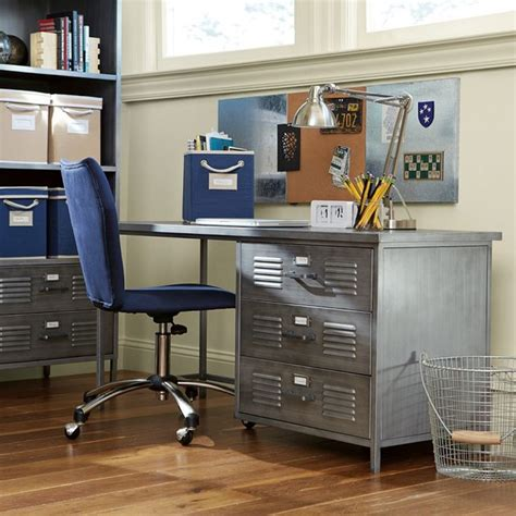 locker desk locker desk industrial desks and hutches by pbteen