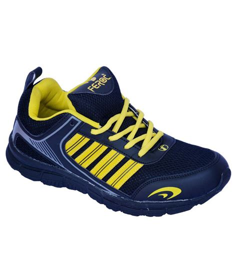 feroc black yellow sports shoes price in india buy
