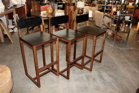 Bddw Furniture by Bddw Wood And Leather Barstools At 1stdibs