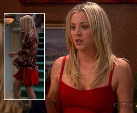 Tv Show Benched Wornontv Penny S Red Dress On The Big Bang Theory Kaley