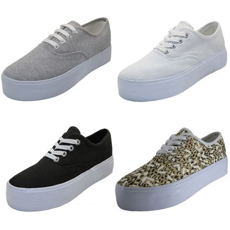 comfortable sneakers for women women s platform sneakers canvas lace up high wedge fashion comfort shoes sizes ebay