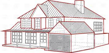 build house plans free layout of country house plan of building with garage vector image 36707 rfclipart