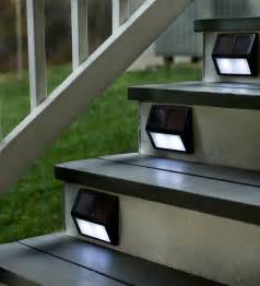 solar deck stair lights light up your outdoor stairway with plow hearth solar