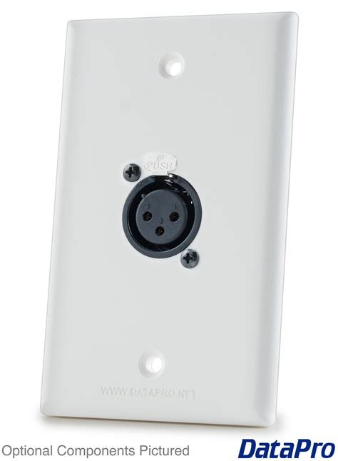 Wallplate Faceplate Stanlees 1 Xlr wall plate xlr single datapro