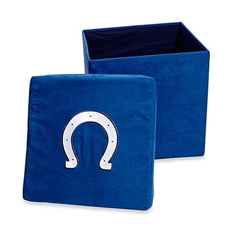 storage ottoman bed bath and beyond indianapolis colts collapsible storage ottoman bed bath