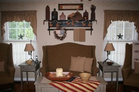 primitive curtains for living room primitive living room love the home decor pinterest