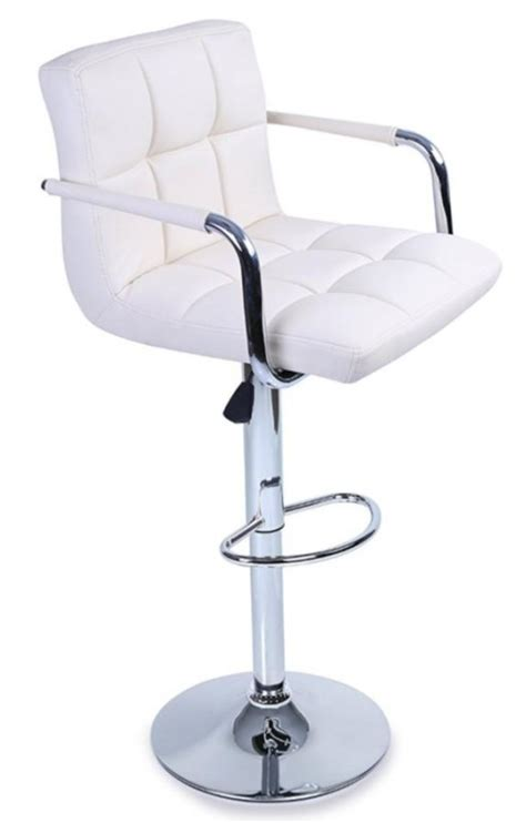 Tabouret Fauteuil tabouret fauteuil de bar willord lot de 2 couleur blanc