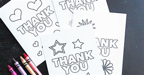 printable 4 h thank you cards free printable thank you cards for kids to color send
