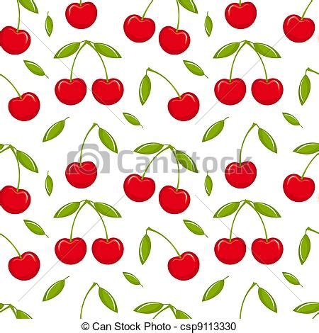 cherry pattern vector art vector clipart of cherry seamless cherries seamless