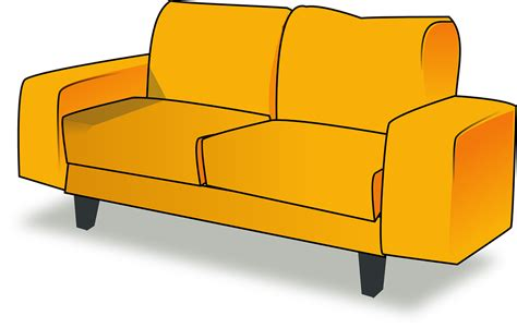 couch svg free vector graphic settee sofa couch furniture free