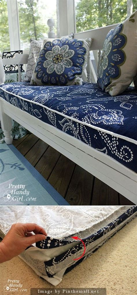 inexpensive boat cushions good tutorial for sewing a bench cushion sewing