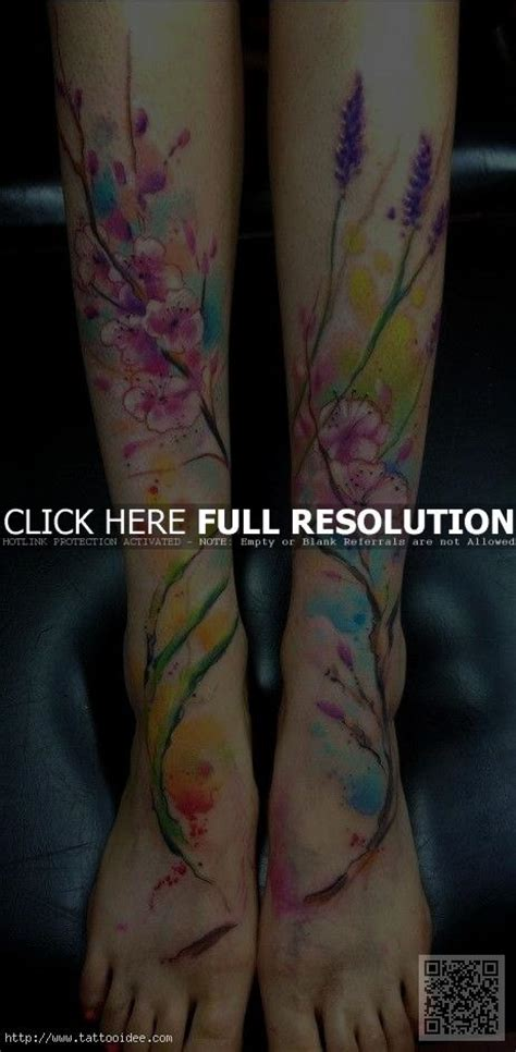 blumen aquarell tattoo tattooidee com