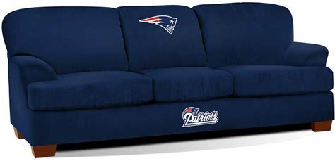 new england patriots couch new england patriots first team microfiber sofa