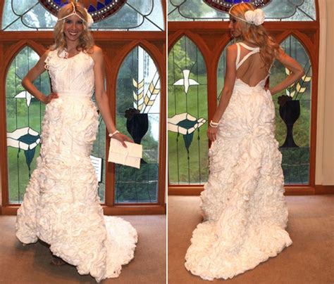 How To Make A Paper Dress To Wear - you obviously won t wear a toilet paper wedding dress