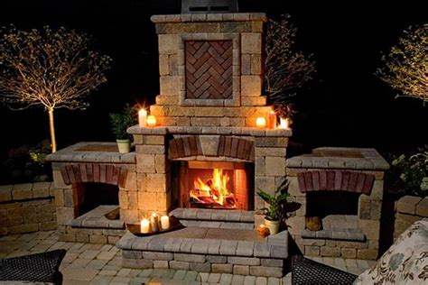 how to build an outdoor fireplace brick stone small