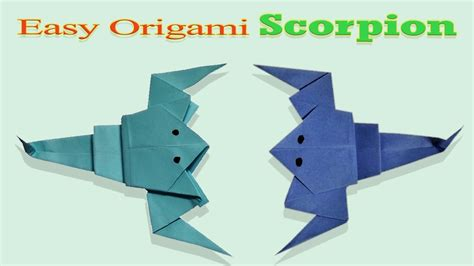 How To Make A Paper Scorpion - origami tutorials scorpion how make origami scorpion