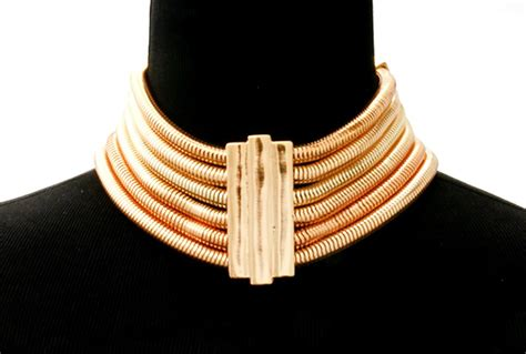 gold chain choker necklace by gold choker necklace multi layered cocoon chain necklace