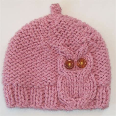 knitted owl hat owl cable knit hat in pink cable hats and