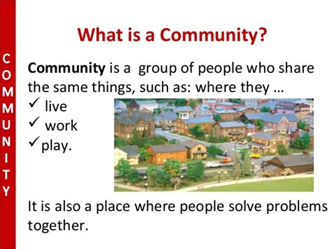 what is a what is a community class 1 term 2