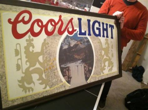 vintage coors light up sign buying vintage signs for the man cave coors light mirror