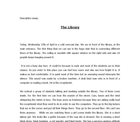 descriptive essay sle about a person narrative essay exles narrative essay sles