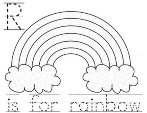 rainbow dot coloring page 6 best images of rainbow do a dot art printables rainbow